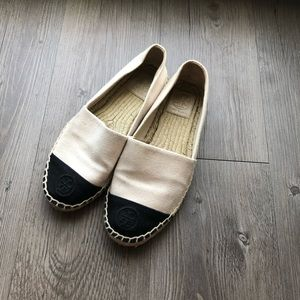 Tory Burch | White and Black Espadrilles